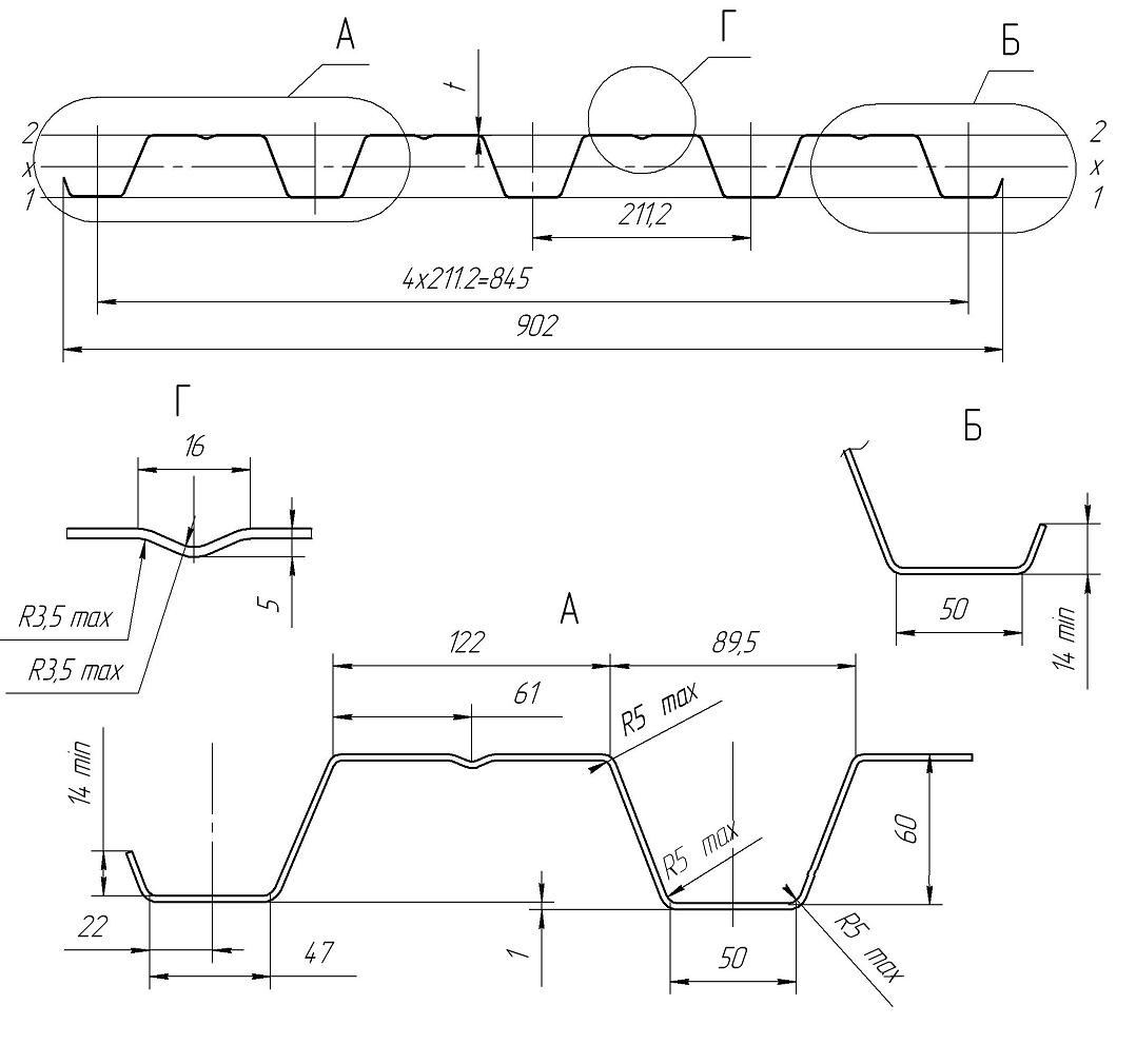 профнастил н60 технические характеристики